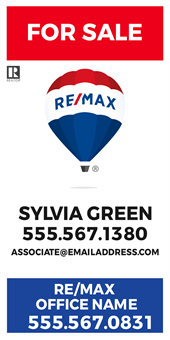 RE/MAX For Sale With Logo Pole Banner: 710-14