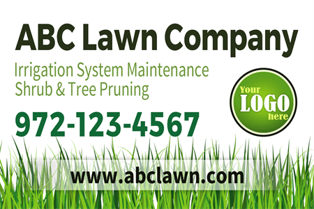 Lawn Company Window Decal: 515-4