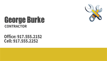 Contractor Services Business Card: 905-3