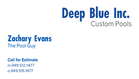 Custom Pools Business Card: 1213-10