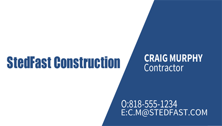Building Construction and Renovations Business Card: 793-3