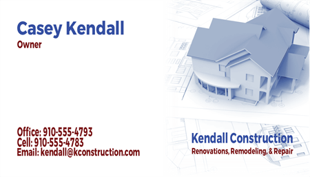 Remodeling Construction Business Card: 369-9
