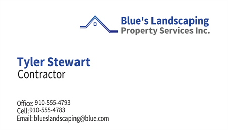 Landscaping Management Business Card: 440-2