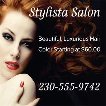 Hair Color Advertising Backdrop: 848-4