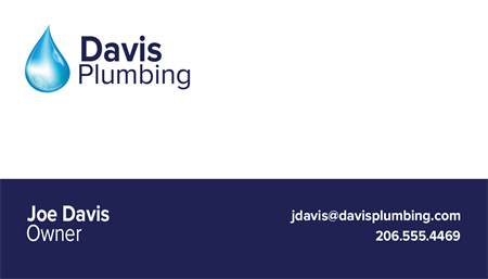 Plumbing Business Card: 973-9