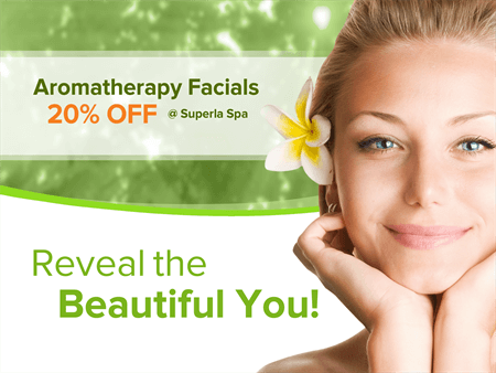 Aromatherapy Facials Window Decal: 977-3