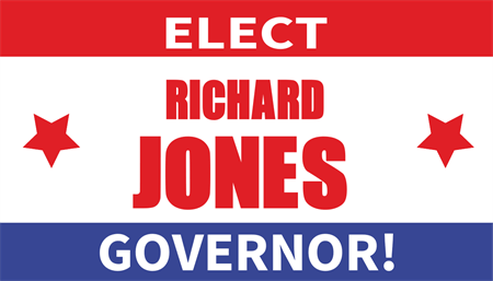 Governor Campaign Election Business Card: 141-9