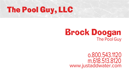 Pool Service And Repair Business Card: 520-9