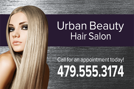 Urban Hair Salon Window Decal: 1099-2