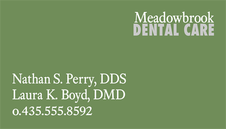 Dental Office Business Card: 1043-9