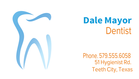 Dentist Office Business Card: 855-4