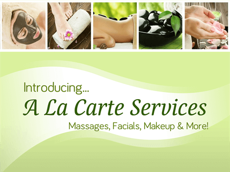 Spa A La Carte Services Window Decal: 980-3