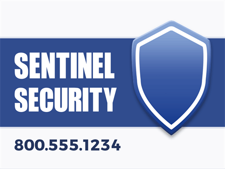 Security Protection Services Yard Sign: 908-3