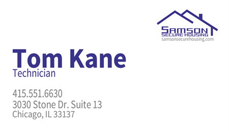 Housing Security Business Card: 655-9