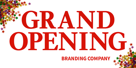Company Grand Opening Ad Yard Sign: 191-1