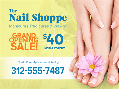 Nail Salon Yard Sign: 984-3