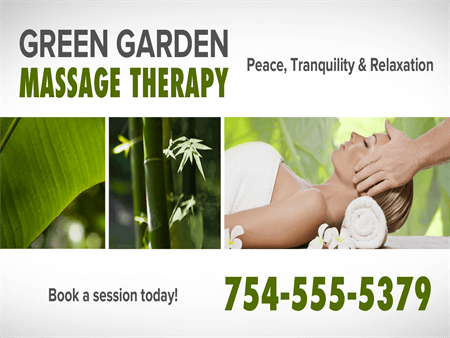 Massage Therapy Window Decal: 1012-3