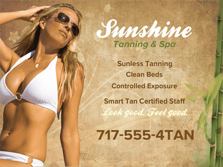 Tanning Salon Spa Window Decal: 776-3