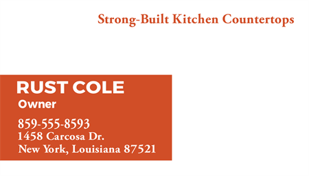 Kitchen Countertops Business Card: 748-9