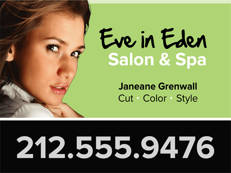 Salon Spa Ad Window Decal: 174-3
