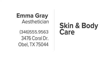 Spa Business Card: 822-9