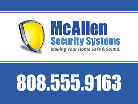 Home Security Service Yard Sign: 701-3