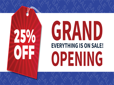 Retail Grand Opening Sale Yard Sign: 678-2