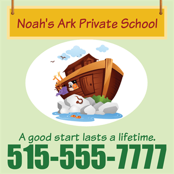 Daycare and Private School Flyer: 789-4