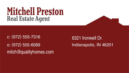 Real Estate Business Card: 283-9