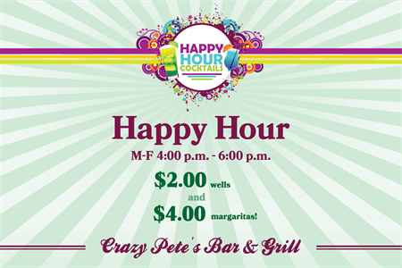 Happy Hour Menu Board: 1049-5