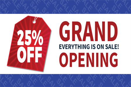 Retail Grand Opening Sale Window Decal: 678-6