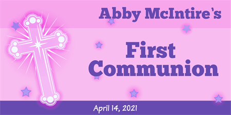 Girl's First Communion Banner