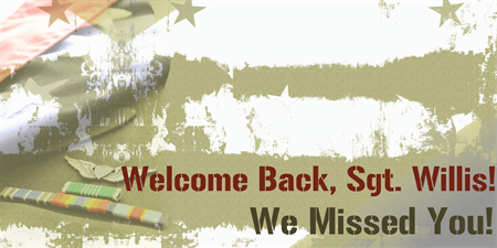 Welcome Home Soldier Banner: 324-1