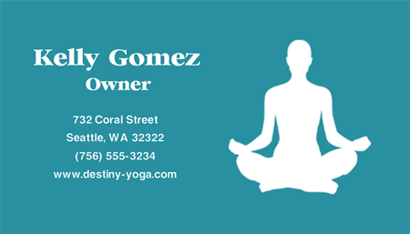 Yoga Studio Owner Business Card: 1790-9