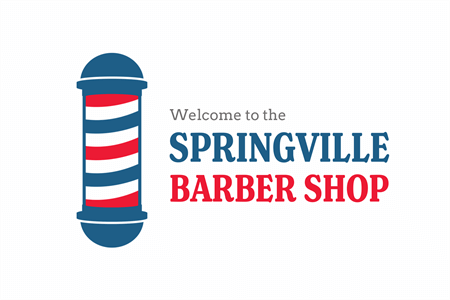Colored Barber Pole Window Decal: 2090-2