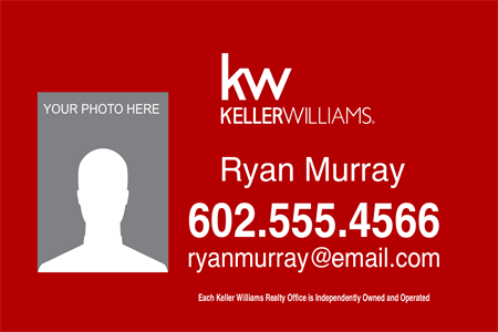 Keller Williams Realty Company Etched Glass Decal: 726-5