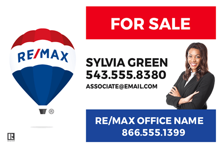 RE/MAX Logo With Agent Photo Yard Sign: 712-2