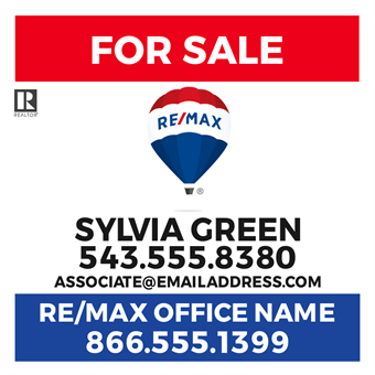 RE/MAX Logo With Agent Photo Flyer: 712-4
