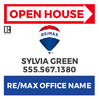 RE/MAX Open House Directional Flyer: 716-4
