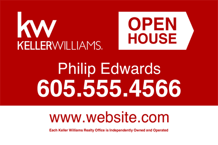 Keller Williams Open House Etched Glass Decal: 727-3