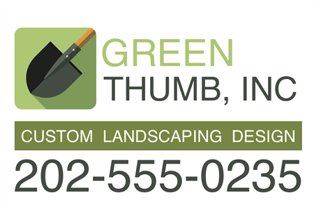 Green Thumb Landscaping Banner: 3422-3