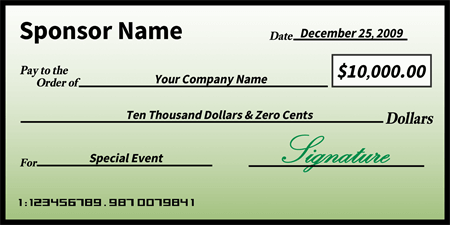 Simple Green Presentation Oversized Check: 410-1