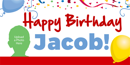 Personalized Picture Birthday Banner: 428-1