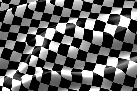 Checkered Race Flag Die-Cut Decal: 492-5