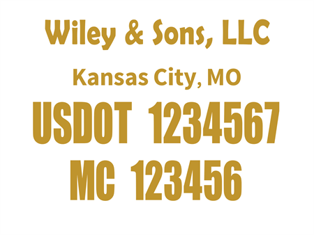 US DOT and MC Car Magnet: 529-6