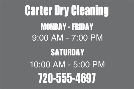 Dry Cleaning Store Window Decal: 455-4