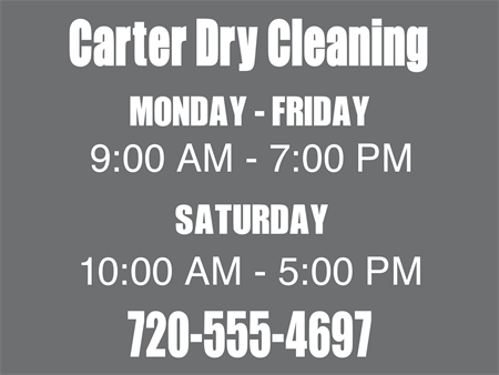 Dry Cleaning Store Car Magnet: 455-6