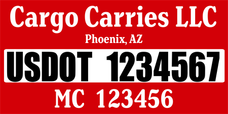 US DOT Info Car Magnet: 472-1