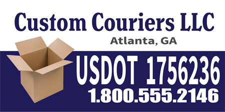 USDOT Couriers Car Magnet: 473-1