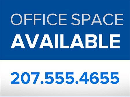Office Space for Lease Car Magnet: 883-5